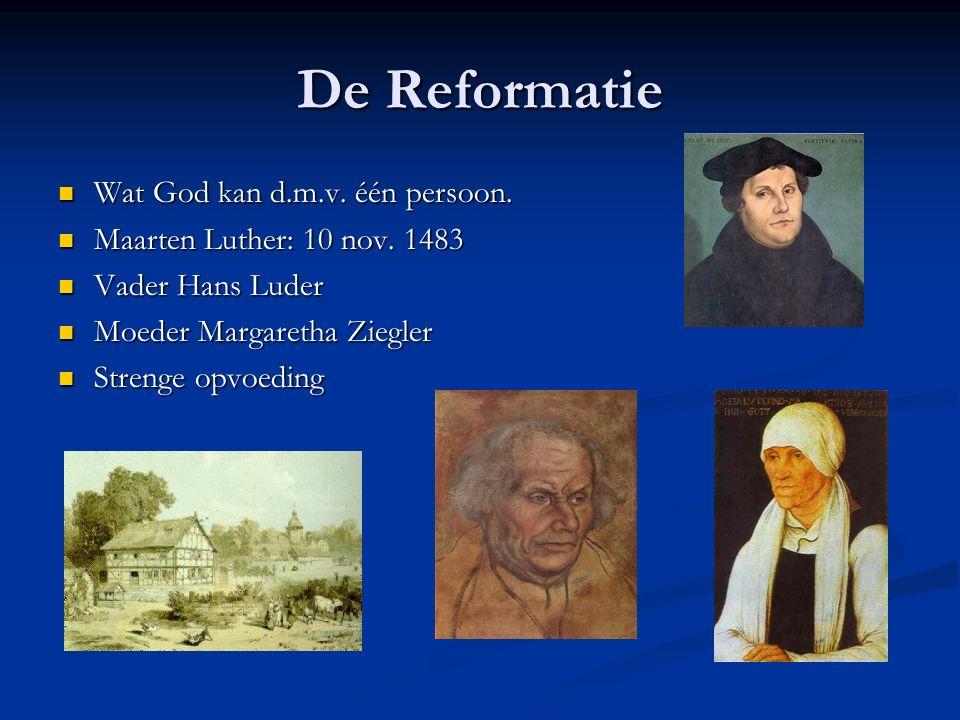 De Reformatie Wat God kan d.m.v. één persoon. Wat God kan d.m.v.