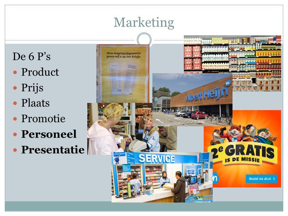 Marketing De 6 P's Product Prijs Plaats Promotie Personeel Presentatie