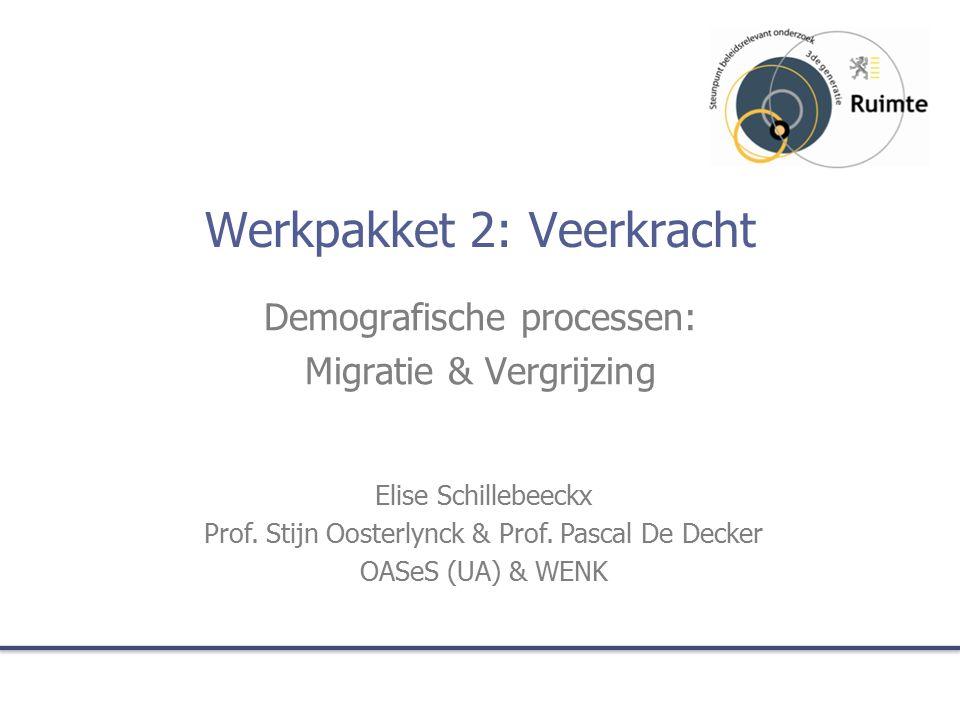 Werkpakket 2: Veerkracht Demografische processen: Migratie & Vergrijzing Elise Schillebeeckx Prof.