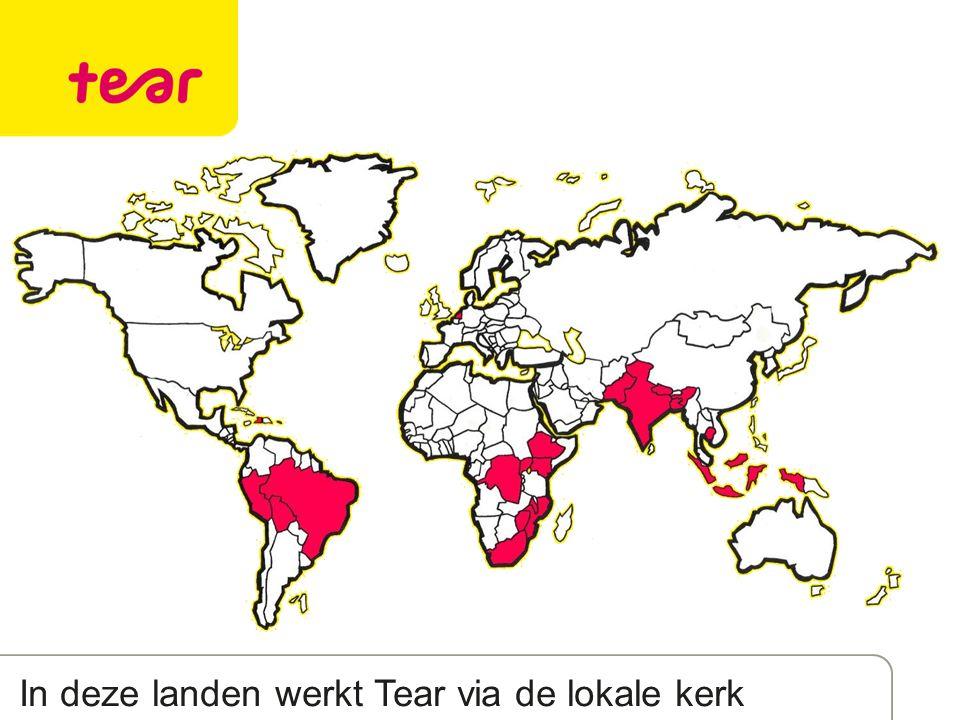 In deze landen werkt Tear via de lokale kerk