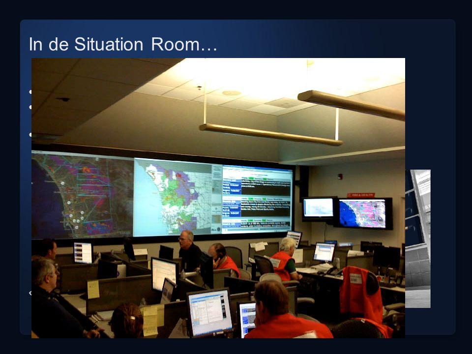 In de Situation Room… hi-tech input uit alle denkbare bronnen (hoofd)redactie > diverse lagen van actualiteit, betrouwbaarheid, kennisniveau en invalh