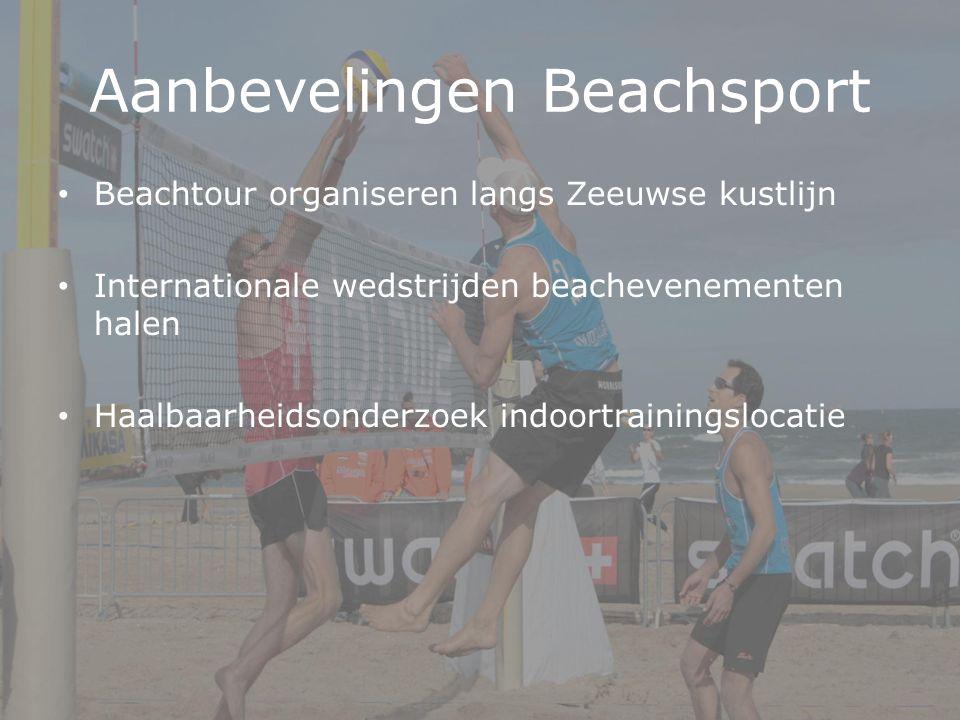 Aanbevelingen Beachsport Beachtour organiseren langs Zeeuwse kustlijn Internationale wedstrijden beachevenementen halen Haalbaarheidsonderzoek indoortrainingslocatie
