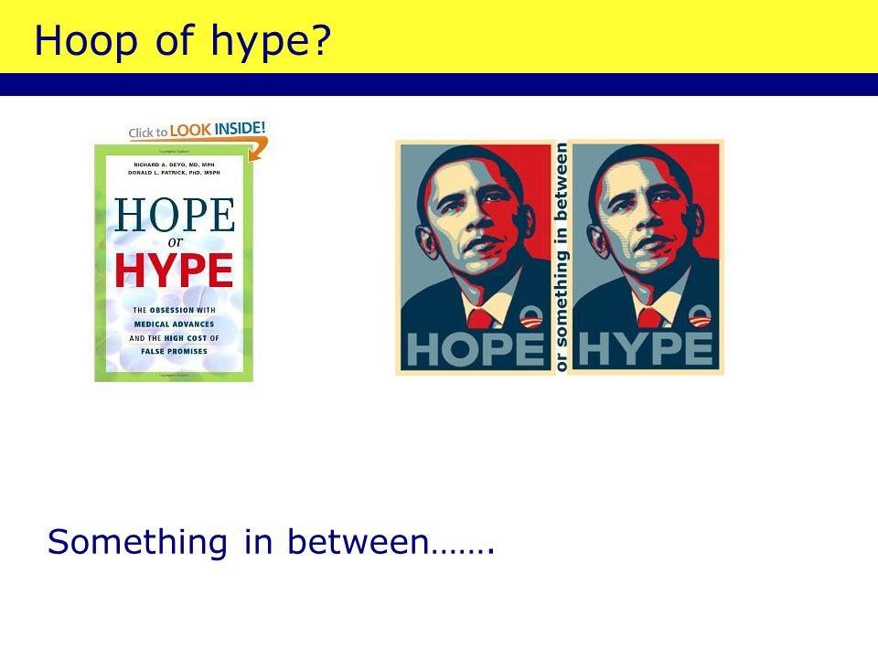 Hoop of hype? Something in between…….