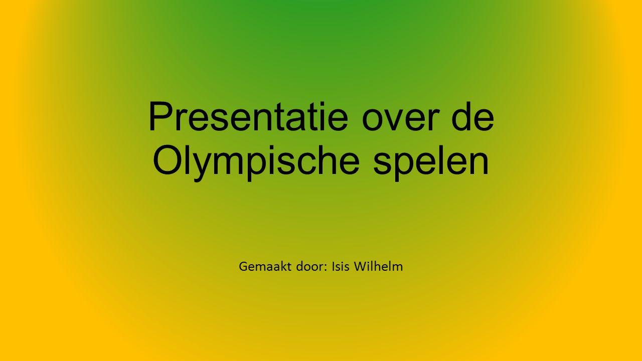Inleiding Mijn presentatie gaat over de olympische spelen.