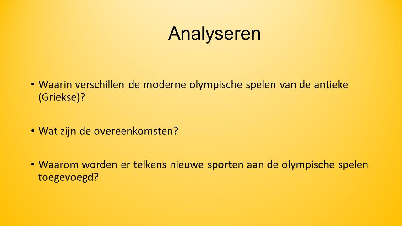 Evalueren Welke verandering voor de olympische spelen raad ik aan?