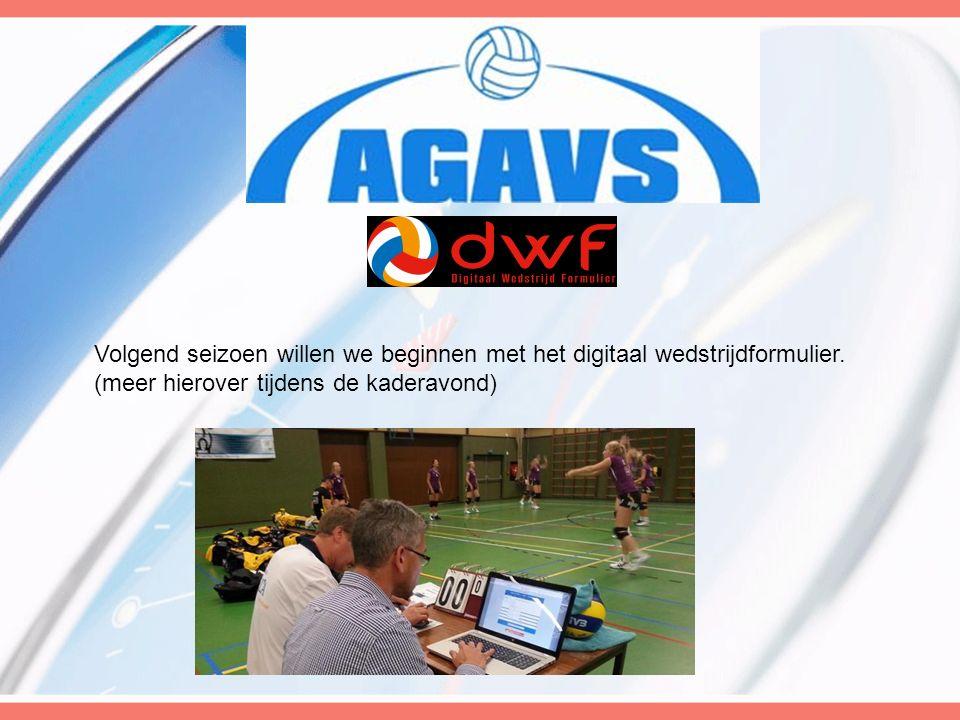 Volgend seizoen willen we beginnen met het digitaal wedstrijdformulier.