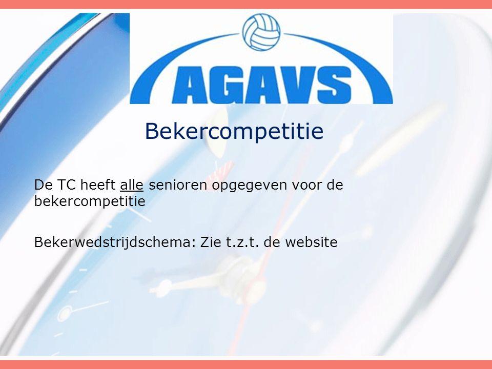 De TC heeft alle senioren opgegeven voor de bekercompetitie Bekerwedstrijdschema: Zie t.z.t. de website Bekercompetitie