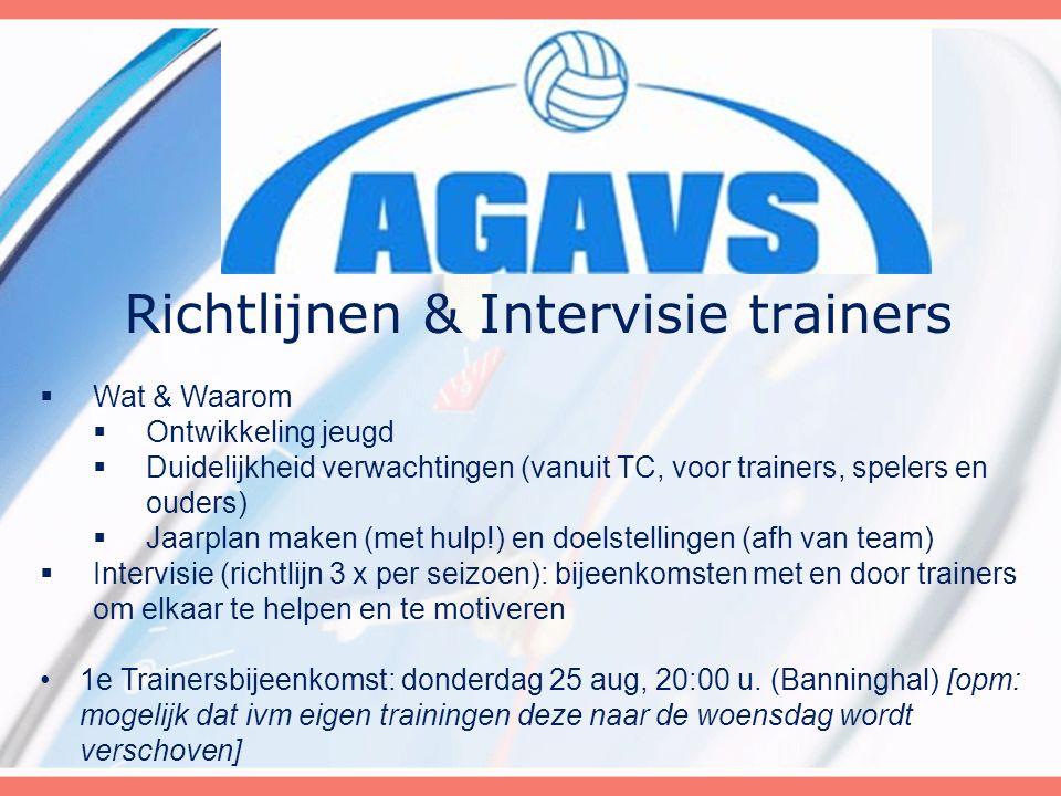 Richtlijnen & Intervisie trainers  Wat & Waarom  Ontwikkeling jeugd  Duidelijkheid verwachtingen (vanuit TC, voor trainers, spelers en ouders)  Ja