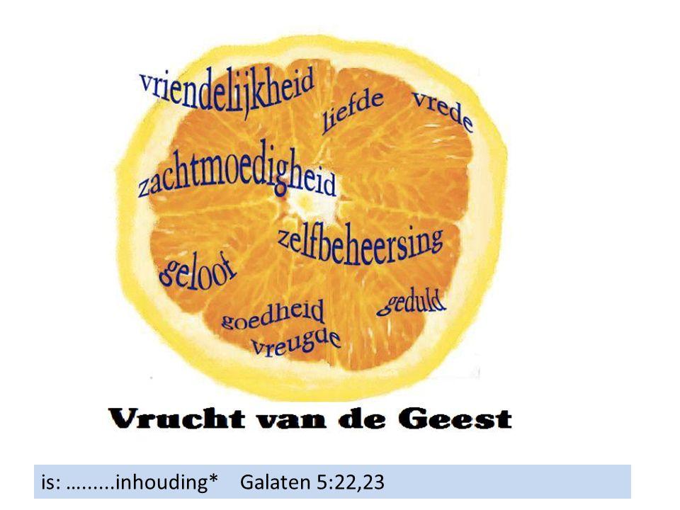 is: …......inhouding* Galaten 5:22,23