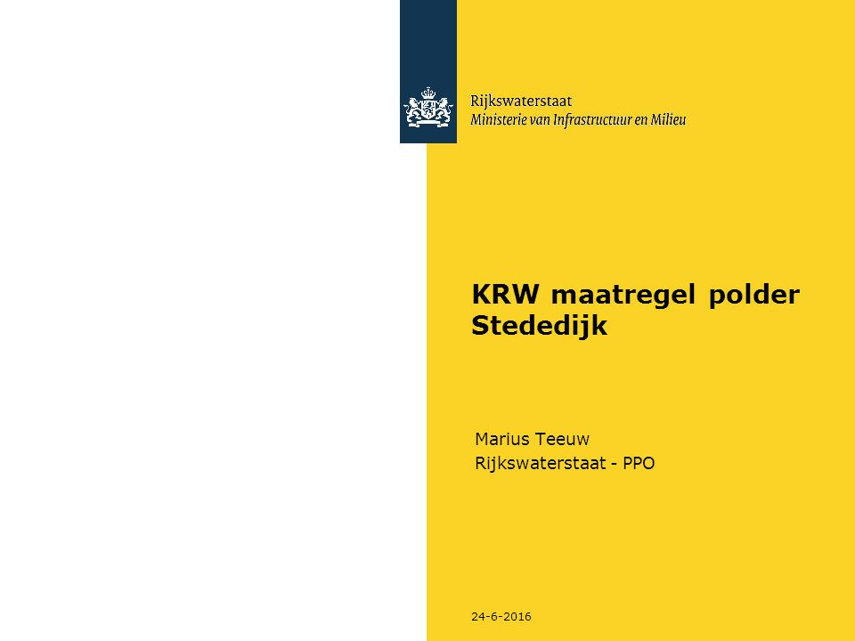 24-6-2016 KRW maatregel polder Stededijk Marius Teeuw Rijkswaterstaat - PPO
