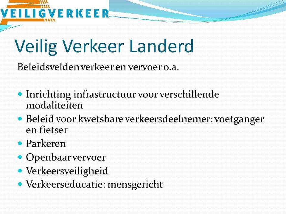 Veilig Verkeer Landerd Beleidsvelden verkeer en vervoer o.a.