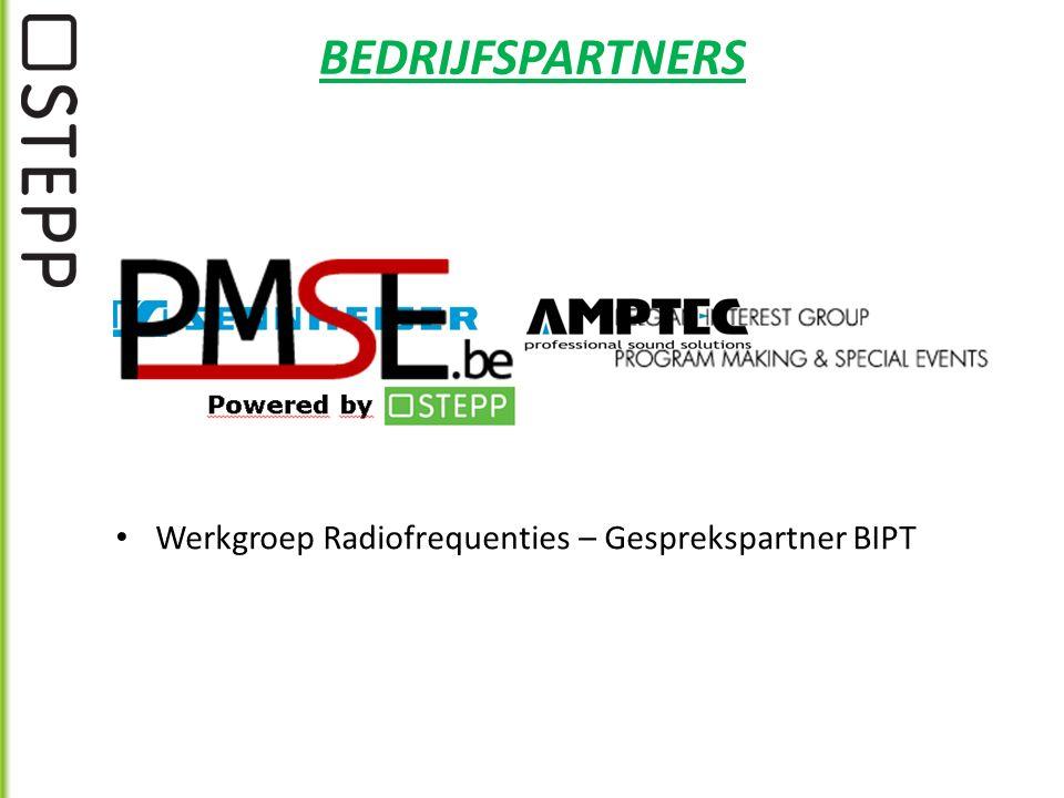 BEDRIJFSPARTNERS Werkgroep Radiofrequenties – Gesprekspartner BIPT