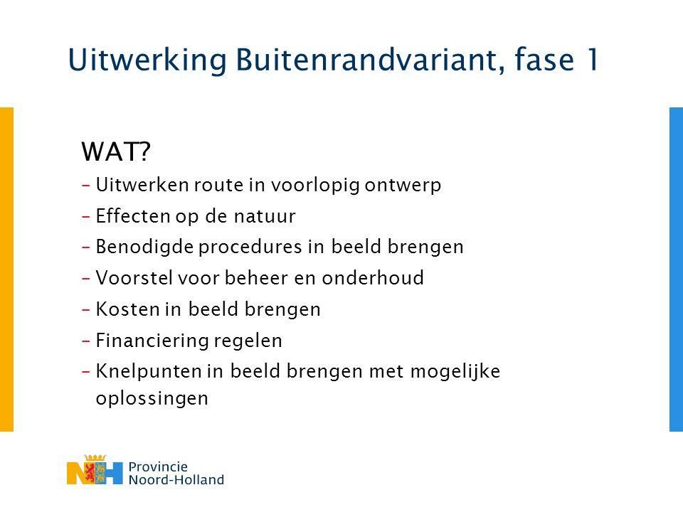 Uitwerking Buitenrandvariant, fase 1 WAT.