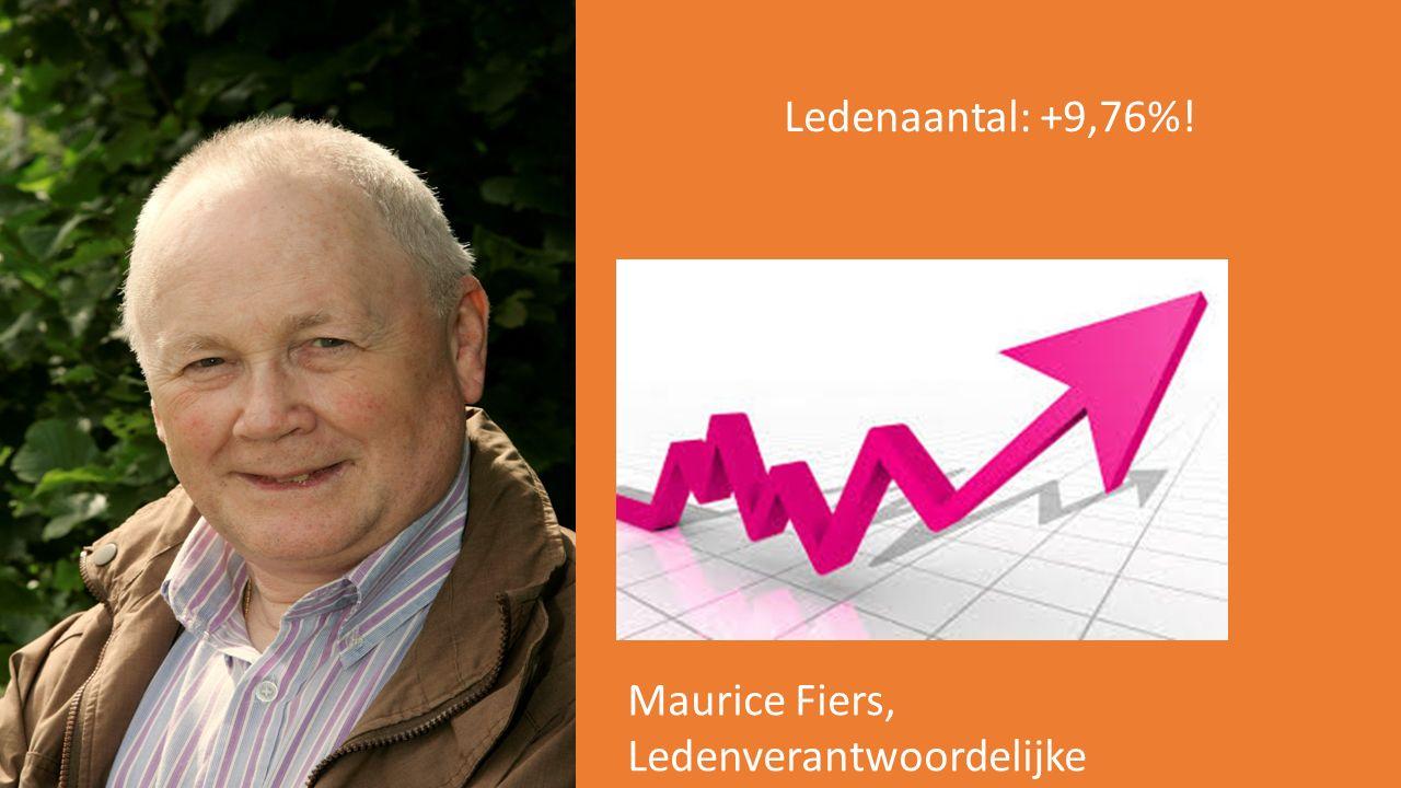 Ledenaantal: +9,76%! Maurice Fiers, Ledenverantwoordelijke