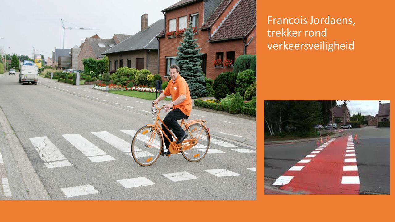 Francois Jordaens, trekker rond verkeersveiligheid