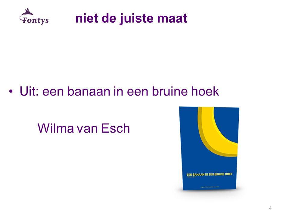 niet de juiste maat Uit: een banaan in een bruine hoek Wilma van Esch 4