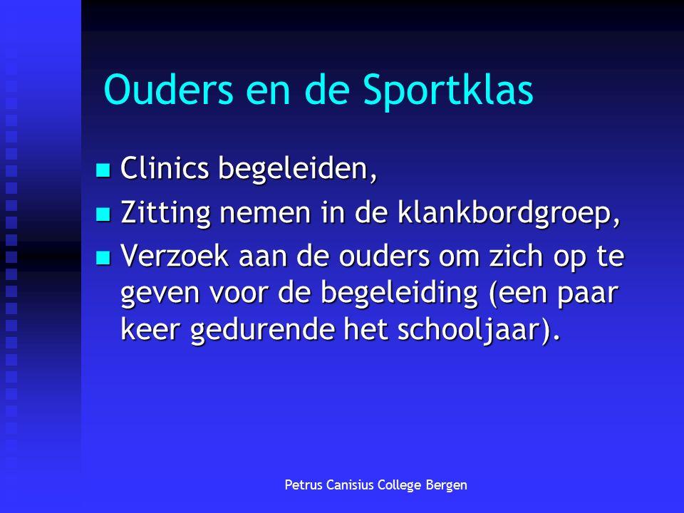 Ouders en de Sportklas Clinics begeleiden, Clinics begeleiden, Zitting nemen in de klankbordgroep, Zitting nemen in de klankbordgroep, Verzoek aan de