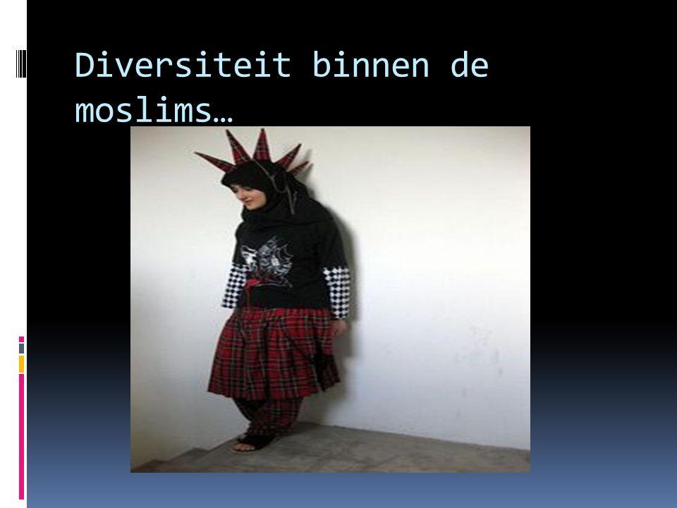 Diversiteit binnen de moslims…