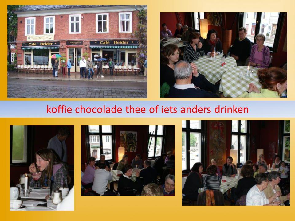 koffie chocolade thee of iets anders drinken
