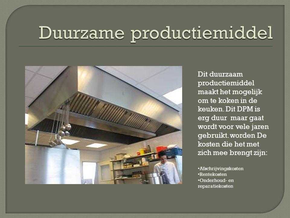 Dit duurzaam productiemiddel maakt het mogelijk om te koken in de keuken.