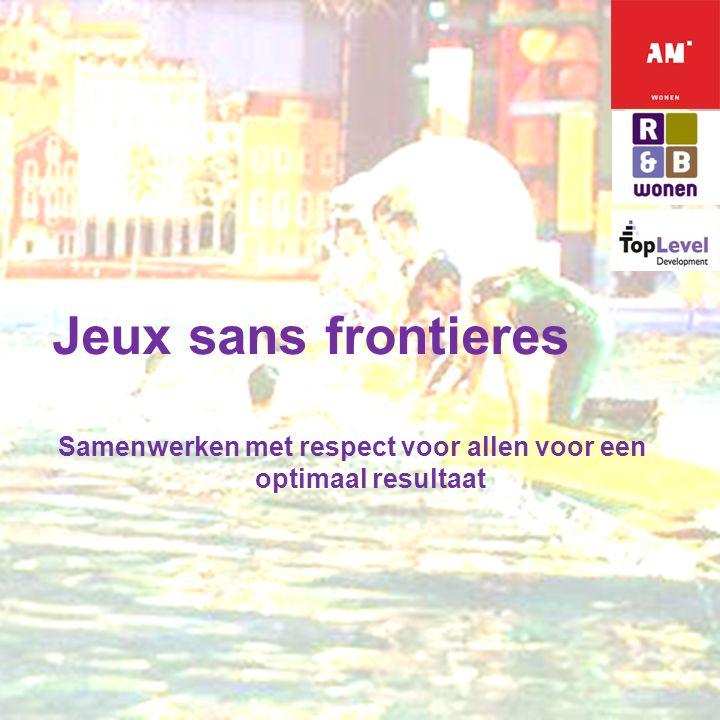 E X T E N D I N G H O R I Z O N S Jeux sans frontieres Samenwerken met respect voor allen voor een optimaal resultaat