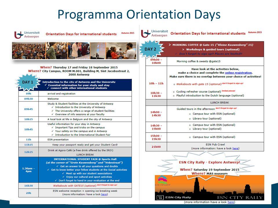 Orientation Days Welcome week International Relations Office International Students Office International Student Fair