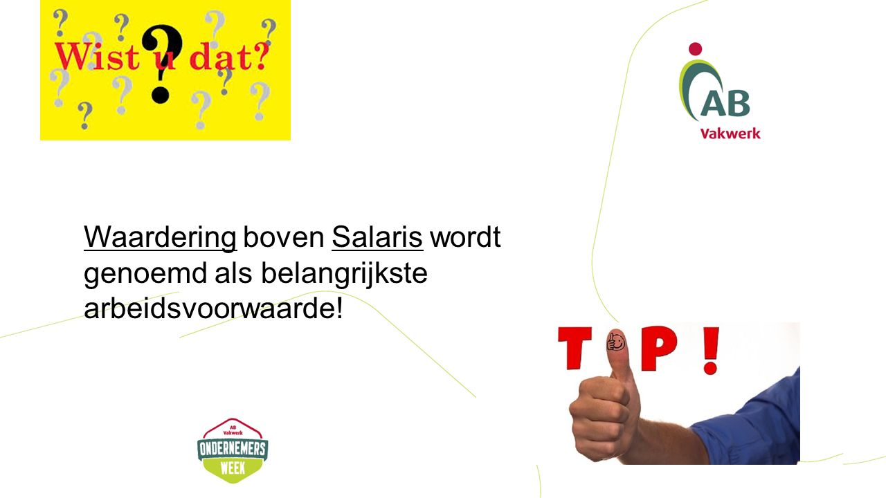 Waardering boven Salaris wordt genoemd als belangrijkste arbeidsvoorwaarde!