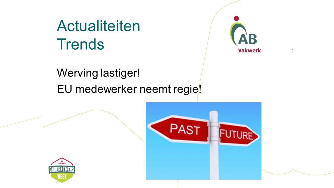 Actualiteiten Trends Werving lastiger! EU medewerker neemt regie!