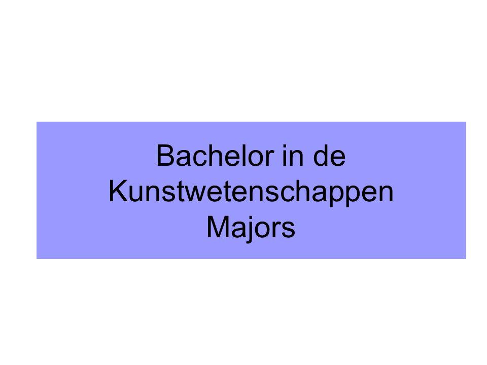 Bachelor in de Kunstwetenschappen Majors