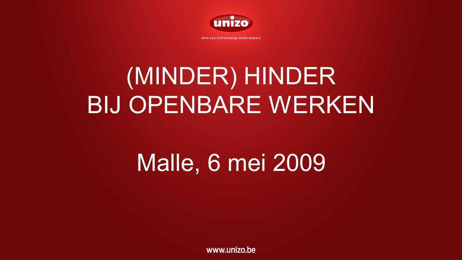 MINDER HINDER BIJ OPENBARE WERKEN -