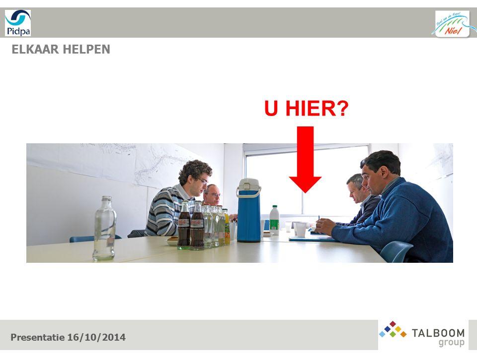 ELKAAR HELPEN U HIER? Presentatie 16/10/2014
