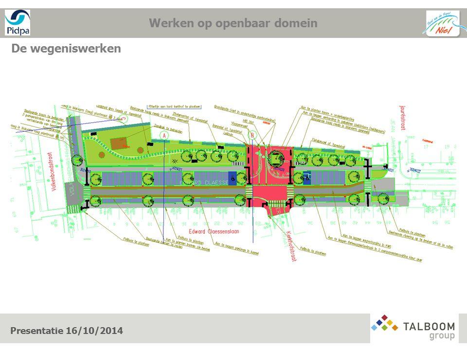 Presentatie 16/10/2014 Werken op openbaar domein wegeniswerken