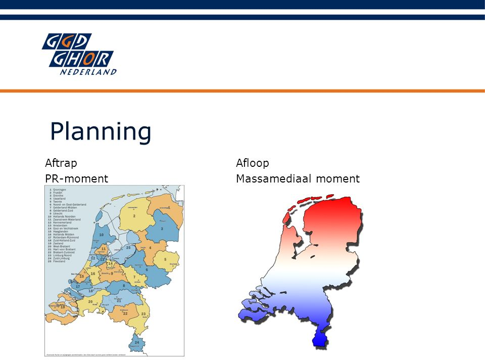 Planning Afloop Massamediaal moment Aftrap PR-moment