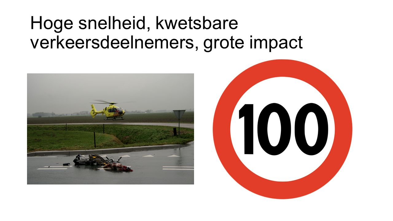 Hoge snelheid, kwetsbare verkeersdeelnemers, grote impact