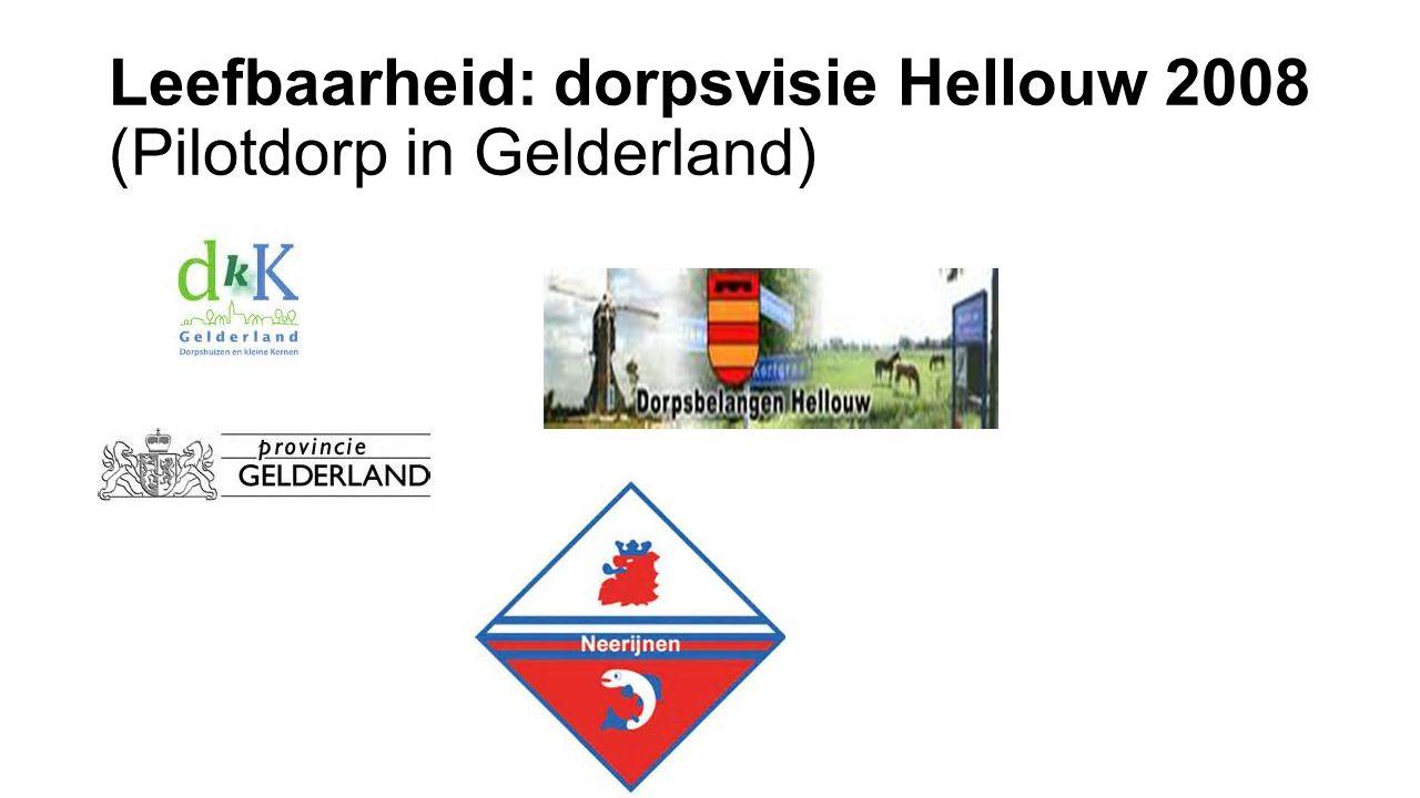 Leefbaarheid: dorpsvisie Hellouw 2008 (Pilotdorp in Gelderland)