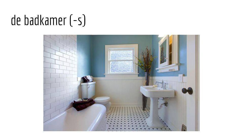 de badkamer (-s)
