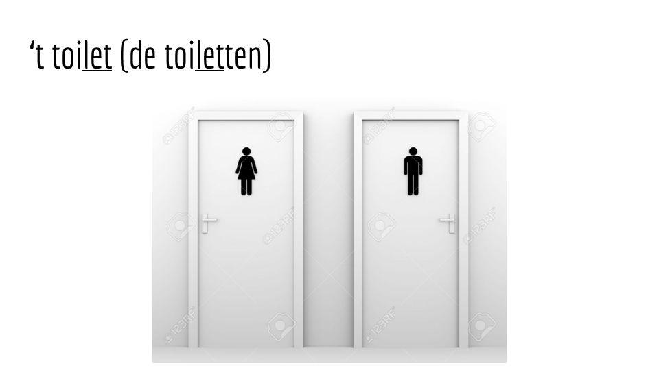 't toilet (de toiletten)