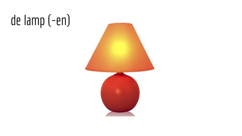 de lamp (-en)