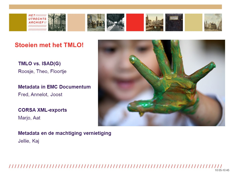 Stoeien met het TMLO. TMLO vs.