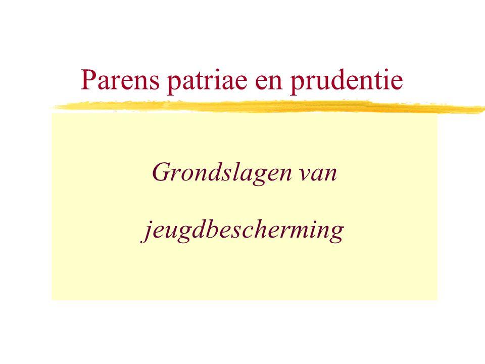 Parens patriae en prudentie Grondslagen van jeugdbescherming