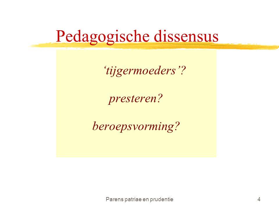 Parens patriae en prudentie4 Pedagogische dissensus 'tijgermoeders' presteren beroepsvorming