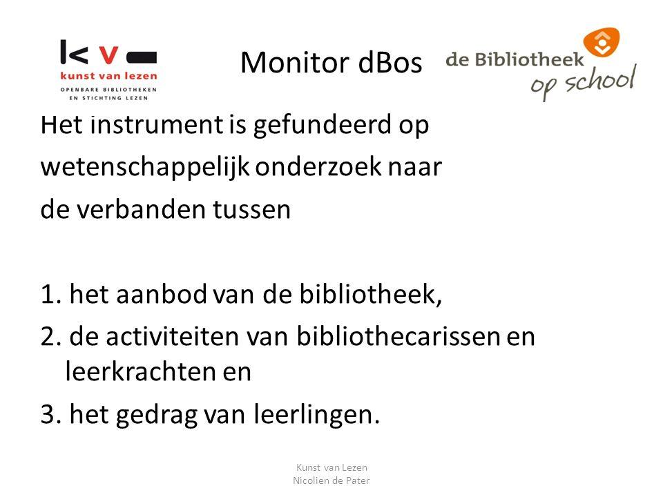 Monitor dBos Het instrument is gefundeerd op wetenschappelijk onderzoek naar de verbanden tussen 1.