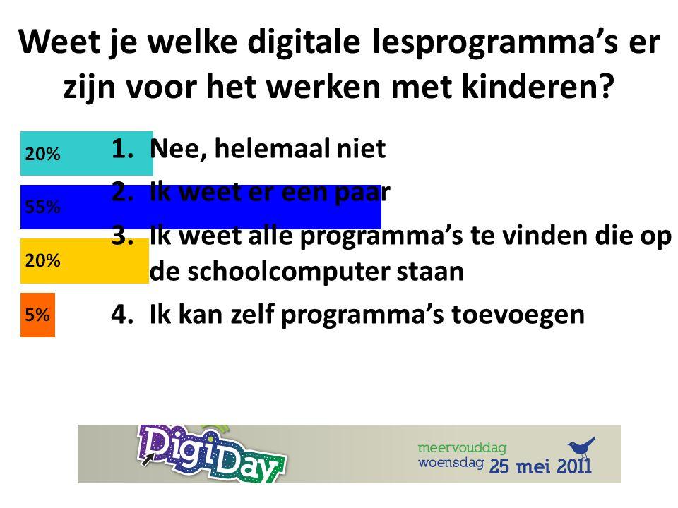 Weet je welke digitale lesprogramma's er zijn voor het werken met kinderen.