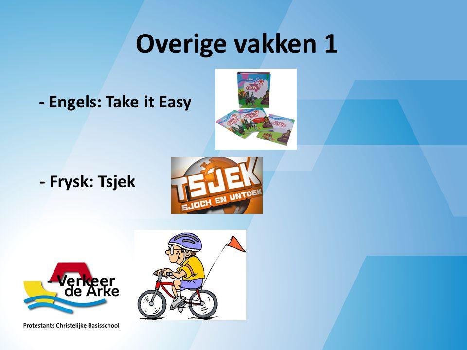 Overige vakken 1 - Engels: Take it Easy - Frysk: Tsjek - Verkeer