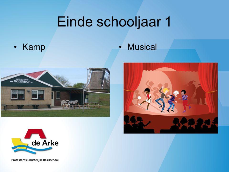 Einde schooljaar 1 KampMusical