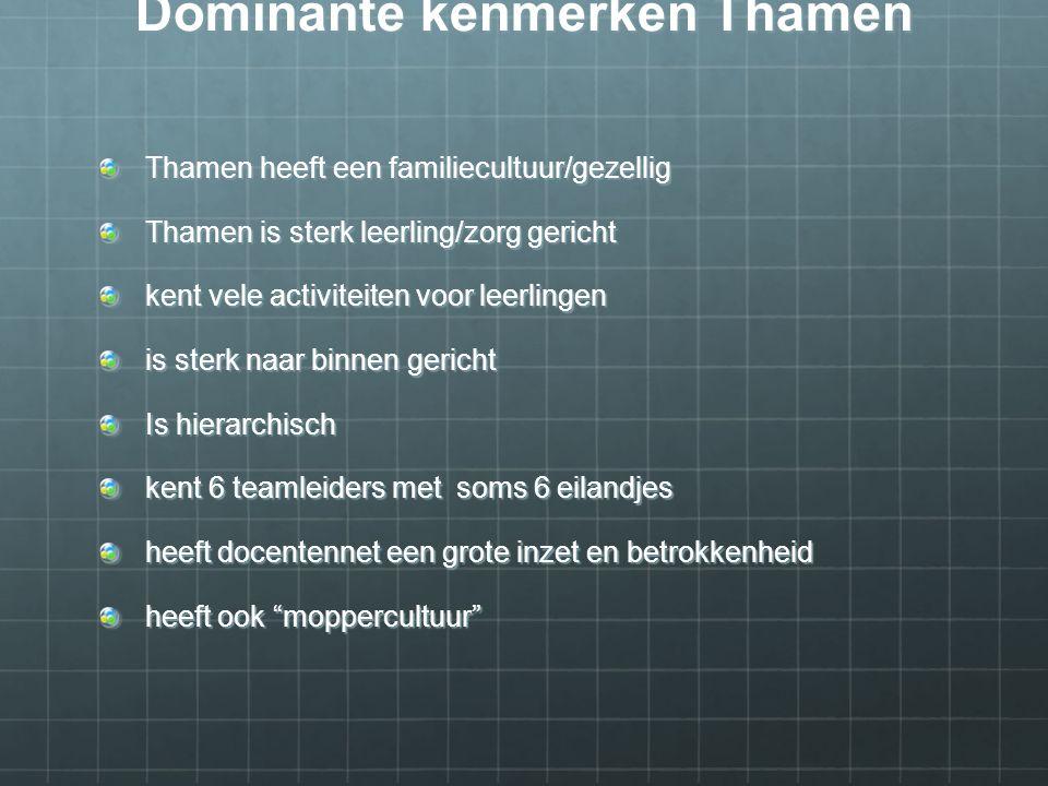 Organisatiecultuur van Thamen is niet congruent.