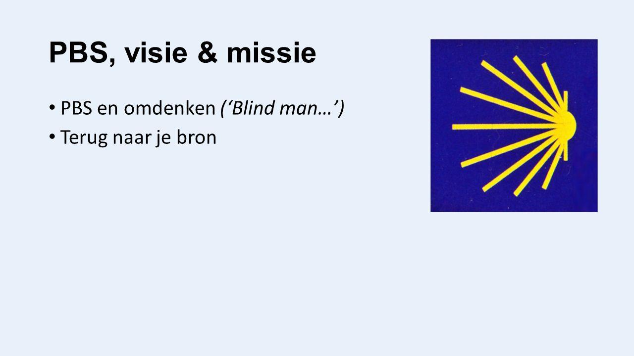 PBS, visie & missie PBS en omdenken ('Blind man…') Terug naar je bron