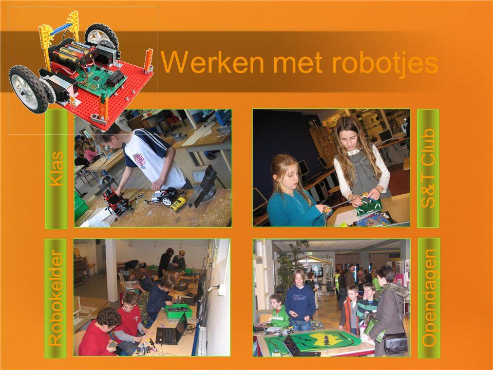 Opendagen Werken met robotjes Klas S&T Club Robokelder
