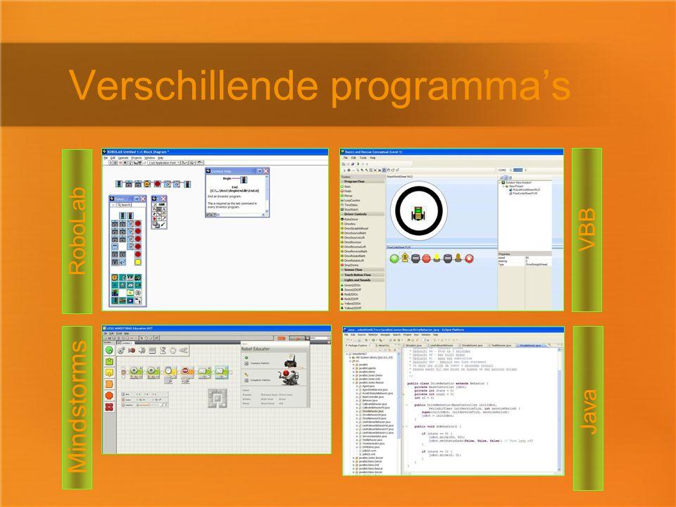 Java Verschillende programma's RoboLab VBB Mindstorms