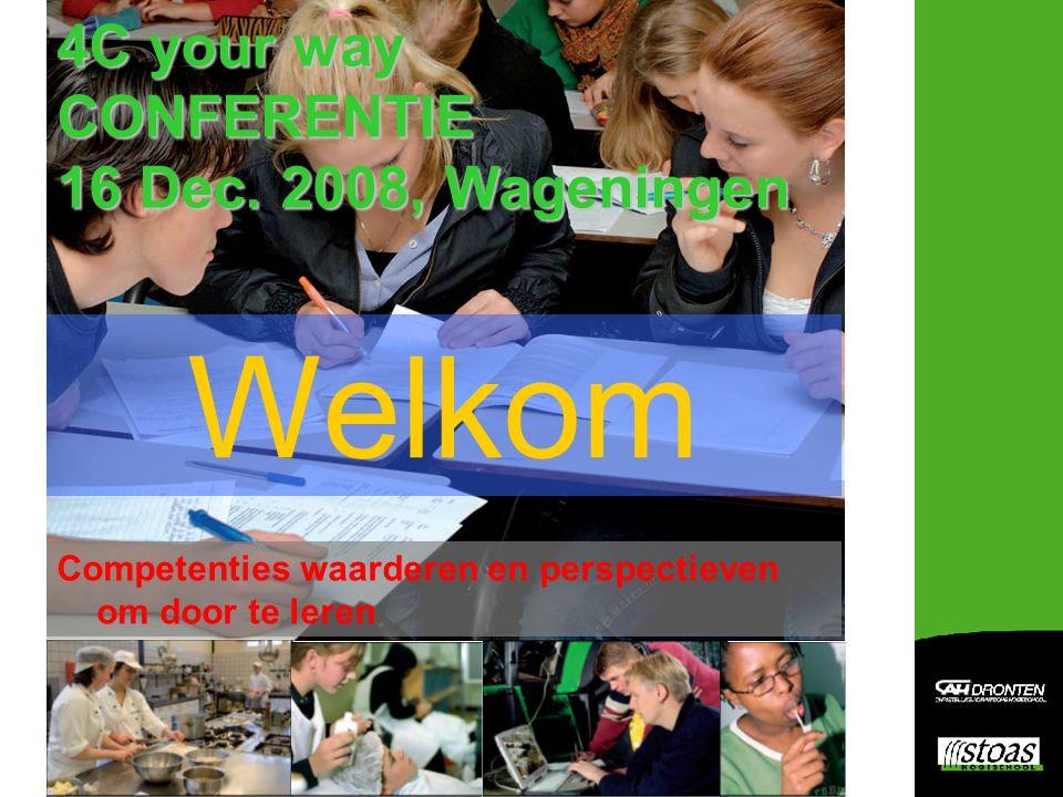 Workshops Workshopronde 1: 14.15-15.15 uur**Workshopronde 2: 15.30-16.30 uur  4C-Onderwijskolomspel  Zaal 14 (N=30)  Perspectief: ontwerp digitaal instrument op basis van 4Cyourway  Zaal 11 (N=25)  Competenties in gedrag beschreven op BB- en KB-niveau (De Groene Werkplek)  Zaal 13 (N=25)  4C-yourmatch: makelaarspel (vraag & aanbod)  Zaal 14 (N=30)  De Groene Doorstroom  Zaal 11 (N= 25)  3*C: competenties in de curricula CAH  Zaal 5 (N=30)  ARES: registratie en evaluatie competentieontwikkeling  Zaal 4 (N= 20)  Leren, Loopbaan & Burgerschap: nu toegankelijk via aanpak 4Cyourway  Zaal 15/16 (N=140)  Thrill (30 minuten)  4C toegepast in Onderwijs- + Toets- + Begeleidingsmodel MBO en VMBO (30 minuten)  Zaal 5 (N=30) Workshops Ronde 1 Zaal 14 Zaal 13 Zaal 11 Zaal 4 Zaal 5 Ronde 2 Zaal 11 Zaal 14 Zaal 5 Zaal 15/16